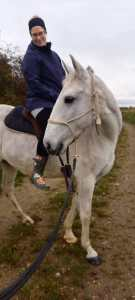 Me on horseback - would not have thought this a couple of weeks ago